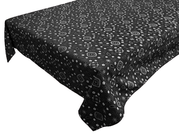 Cotton Bandanna Tablecloth Black