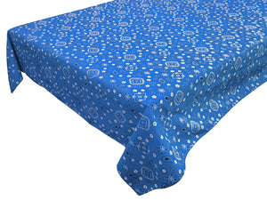 Cotton Bandanna Tablecloth Blue