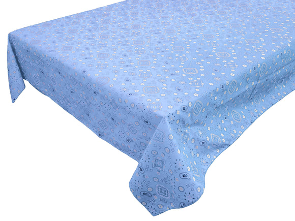 Cotton Bandanna Tablecloth Light Blue