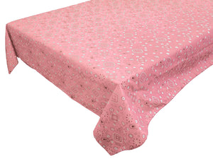 Cotton Bandanna Tablecloth Pink