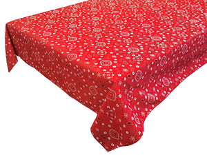 Cotton Bandanna Tablecloth Red