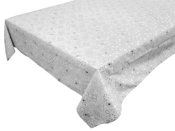 Cotton Bandanna Tablecloth White