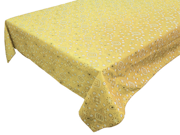 Cotton Bandanna Tablecloth Yellow