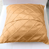 Pintuck Taffeta Decorative Throw Pillow/Sham Cushion Cover Beige