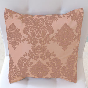 Flocked Damask Decorative Throw Pillow/Sham Cushion Cover Beige on Beige