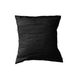Crushed Taffeta Decorative Throw Pillow/Sham Cushion Cover Black