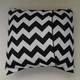 Cotton Chevron Decorative Throw Pillow/Sham Cushion Cover Black