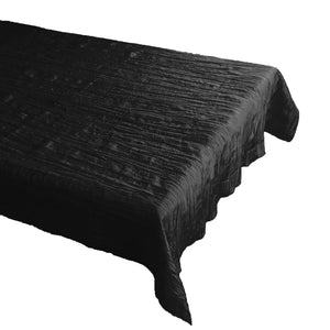 Crinkle Style Crushed Taffeta Tablecloth Black