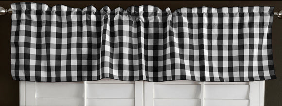 Poplin Gingham Checkered Window Valance 58
