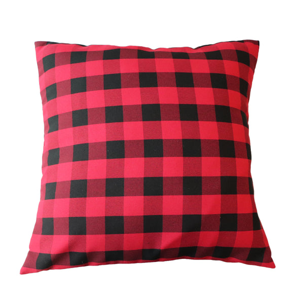 Gingham Checkered Decorative Throw Pillow/Sham Cushion Cover Red & Black