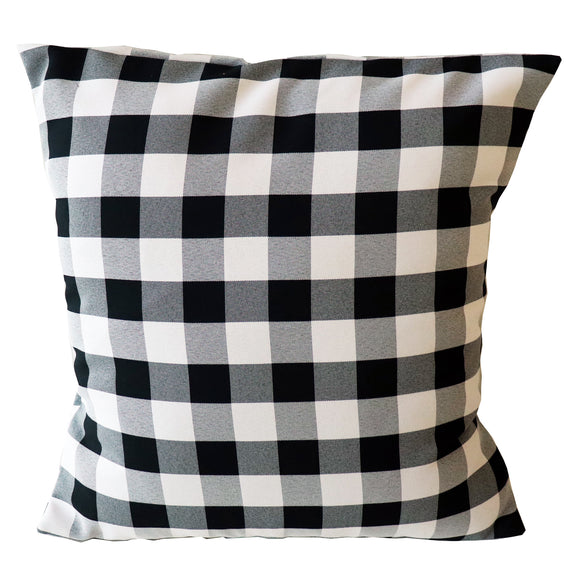 Gingham Checkered Decorative Throw Pillow/Sham Cushion Cover Black & White