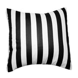 Cotton 1 Inch Stripe Decorative Throw Pillow/Sham Cushion Cover Black and White