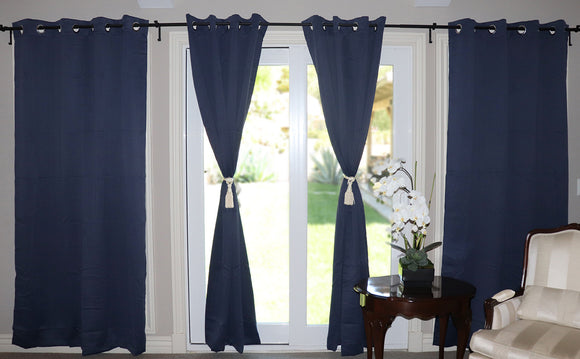 Blackout Curtain Panel 52 Inch Wide Navy