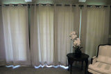 Blackout Curtain Panel 52 Inch Wide Greyish White