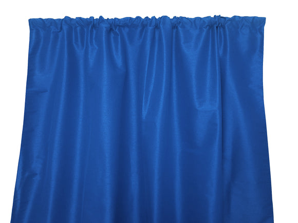 Faux Silk Solid Dupioni Window Curtain 56 Inch Wide Blue