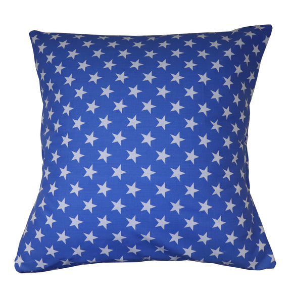Cotton Stars Print Decorative Throw Pillow/Sham Cushion Cover Blue
