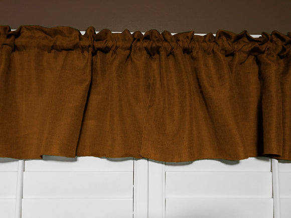 Faux Burlap Window Valance 58