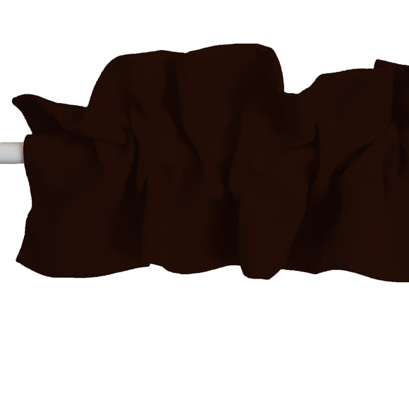 Solid Poplin Curtain Sleeve Topper Brown