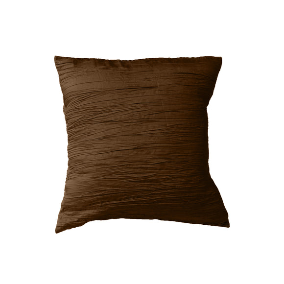 Crushed Taffeta Decorative Throw Pillow/Sham Cushion Cover Brown