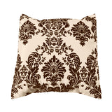 Flocked Damask Decorative Throw Pillow/Sham Cushion Cover Brown on Beige