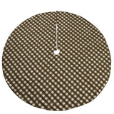 "Gingham Checkered Tree Skirt Christmas Decoration 58"" Round Large Skirt"