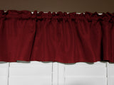 "Faux Burlap Window Valance 58"" Wide Burgundy"