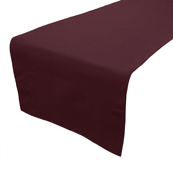 Poplin Table Runner Solid Burgundy