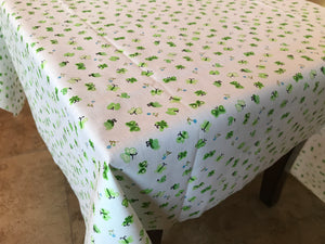 Cotton Butterflies Tablecloth Green