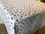 Cotton Butterflies Tablecloth Purple