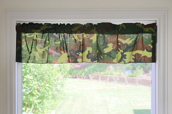 Cotton Camouflage Print Window Valance 58