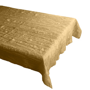Crinkle Style Crushed Taffeta Tablecloth Gold