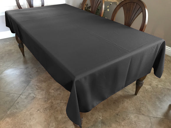 Solid Poplin Tablecloth Charcoal Grey