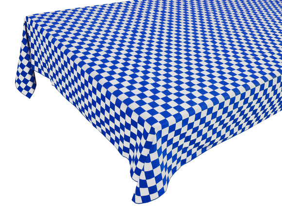 Cotton NASCAR Checkerboard Tablecloth Blue