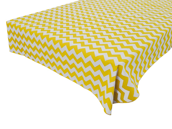Cotton Zig-zag Chevron Tablecloth Yellow
