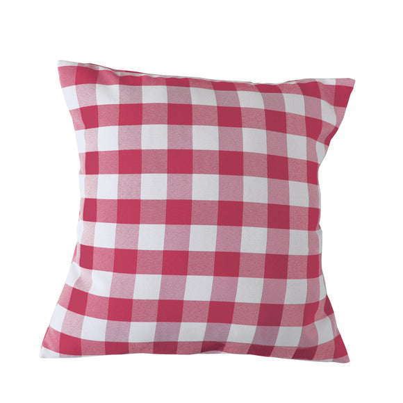 Gingham Checkered Decorative Throw Pillow/Sham Cushion Cover Coral & White