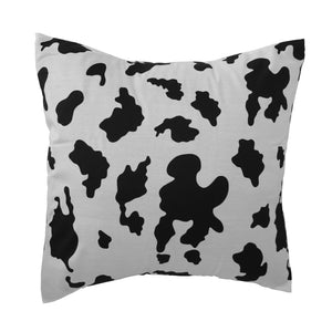 Cotton Cow Spots Animal Print Decorative Throw Pillow/Sham Cushion Cover Black on White