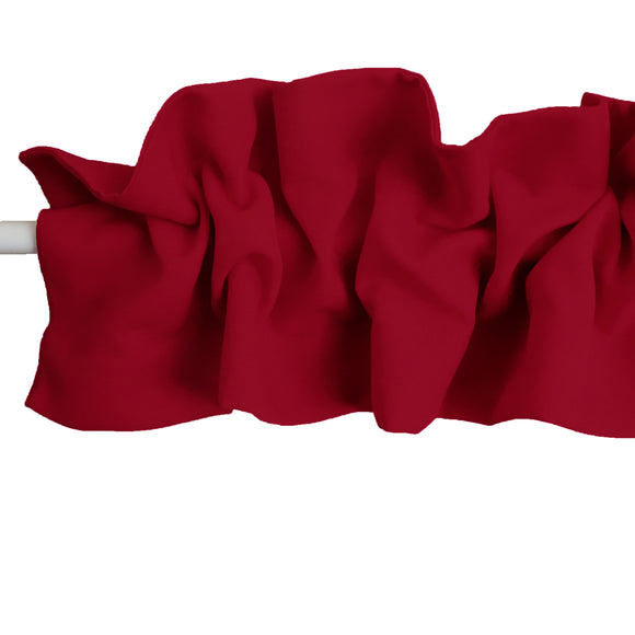 Solid Poplin Curtain Sleeve Topper Cranberry Red