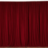 "Solid Poplin Window Curtain or Photography Backdrop 58"" Wide Cranberry Red"