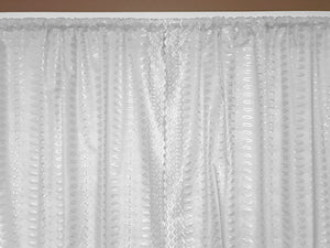 "Cotton Eyelet Window Curtains Scalloped Sides (2 Piece Set) 42"" Wide Panels White"