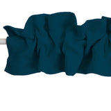 Solid Poplin Curtain Sleeve Topper Dark Teal
