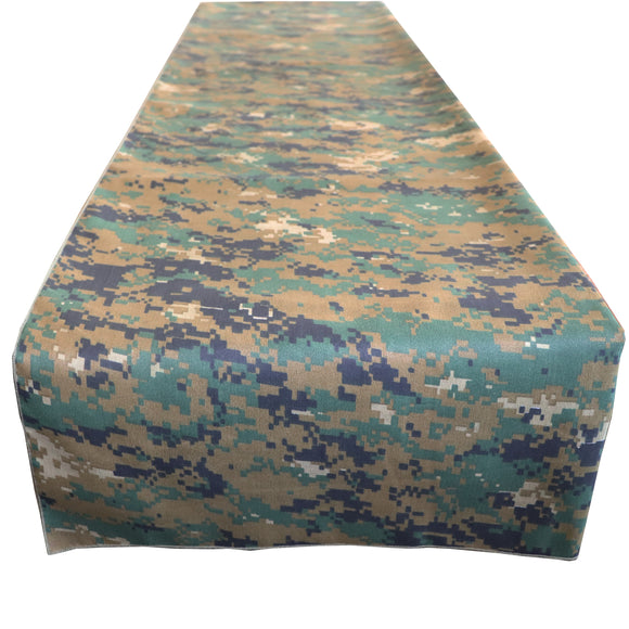 Cotton Print Table Runner Camouflage Digital Pixel Jungle Camo