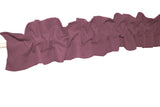 Solid Poplin Curtain Sleeve Topper Dusty Rose
