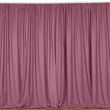 "Solid Poplin Window Curtain or Photography Backdrop 58"" Wide Dusty Rose"