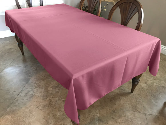 Solid Poplin Tablecloth Dusty Rose