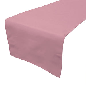 Poplin Table Runner Solid Dusty Rose