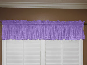"Cotton Eyelet Window Valance 58"" Wide Lavender"