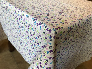 Cotton Small Flowers Tablecloth Purple