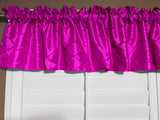 "Pintuck Window Valance 52"" Wide Fuchsia"