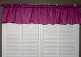 "Faux Burlap Window Valance 58"" Wide Fuchsia"