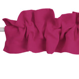 Solid Poplin Curtain Sleeve Topper Fuchsia